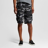 Men's Belted Canvas Cargo Short Grey Camo - Mossimo Supply Co.