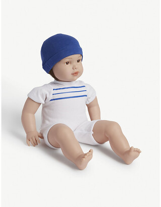 Selfridges Check-print sleeping bag and brown-eyed doll 31.75cm
