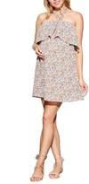 Maternal America Women's Ruffle Maternity/nursing Dress