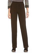 Allison Daley Pull-On Straight-Leg Comfort Knit Jeans