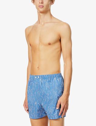 Derek Rose Graphic-print cotton woven boxer shorts
