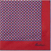 Corneliani Link Pattern Silk Pocket Square