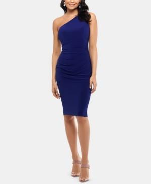 Xscape Evenings X by One-Shoulder Sheath Dress