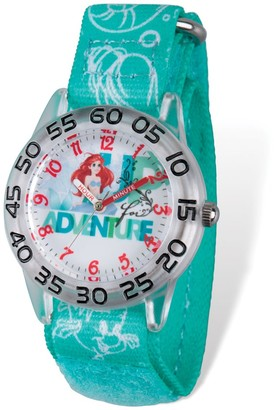 Disney Kids Princess Acrylic 32mm Case Design Dial Ariel Time Teacher Watch - Multi Color