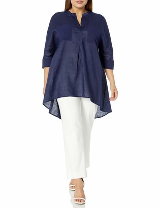 Anne Klein Women's Size Plus Linen Tunic