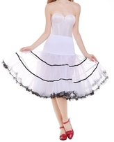DaisyFormals® Women's Vintage Petticoat 50s Puffy Tutu Underskirt ̈C 4 Colors
