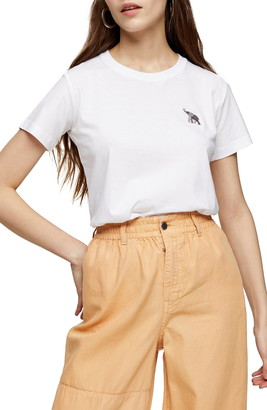 Topshop Embroidered T-Shirt