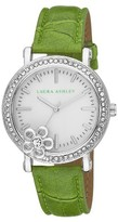 Laura Ashley Ladies Floral Stone Bezel Watch