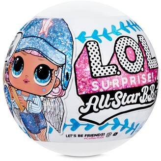 L.O.L. Surprise! L.O.L. Surprise All-Star B.B.s Sports Series 1 Baseball Sparkly Dolls with 8 Surprises