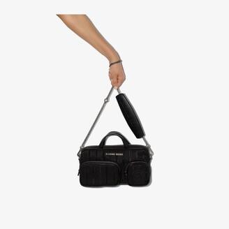 Marine Serre Black moire shoulder bag