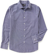 Murano Non-Iron Slim-Fit Long-Sleeve Spread Collar Geo Sportshirt