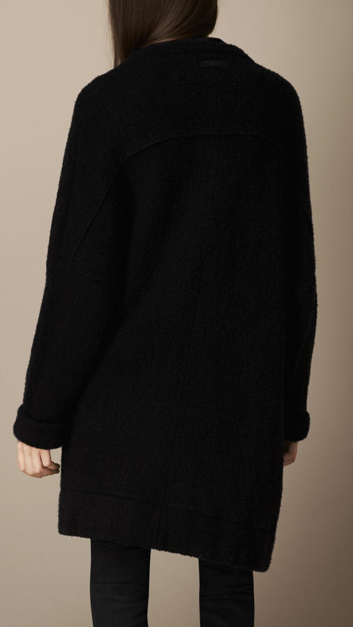 Burberry Alpaca Wool Blend Cardigan Coat