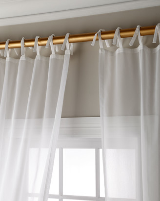 Sweet Dreams Carolina Sheer Tie Top Curtain Panel, 96""