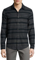 Original Penguin Horizontal-Striped Long-Sleeve Shirt, Black