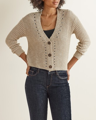 Express Upwest Long Sleeve Cropped Cardigan