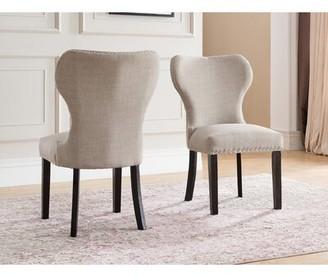 Red Barrel Studioâ® Swanston Wing Back Upholstered Dining Chair Red Barrel StudioA