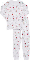 Skylar Luna Snowman-Print Sleep Set