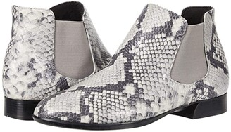 Munro American Cate (Grey Snake Leather/Grey Core) Women's Shoes