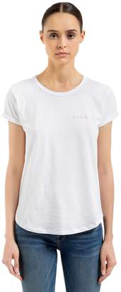 Maison Labiche Amour Embroidered Cotton Jersey T-shirt