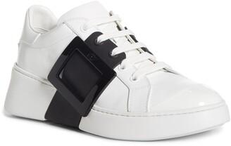 Roger Vivier Viv Buckle Lace-Up Sneaker