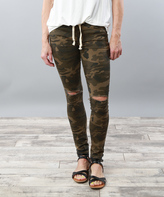 Green Camo Skinny Jeans