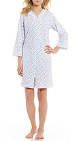 Miss Elaine Rose Bud French Terry Zip Robe
