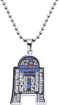 Star Wars FINE JEWELRY R2-D2 Mens Stainless Steel Pendant Necklace