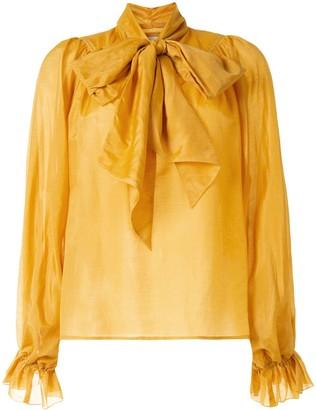 Karen Walker Ornamental pussy-bow blouse
