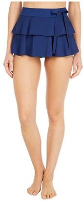 Shan Niigata Ruffle Skirted Pants (Curacao) Women's Swimwear