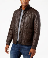 Michael Kors Men's Quilted Leather Bomber Jacket