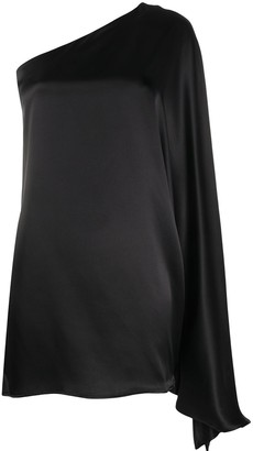 BERNADETTE Linda one-shoulder silk dress