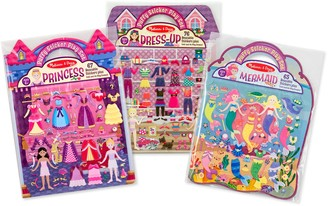 Melissa & Doug Dress-Up Princess & Mermaid Puffy Sticker Bundle