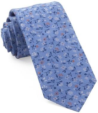Tie Bar Floral Acres Light Blue Tie