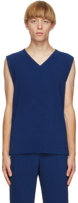 Homme Plissé Issey Miyake Blue Colorful Pleats Tank Top