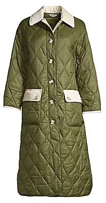 Barbour Women's x Alexa Chung Annie Corduory Trim Quilted Coat
