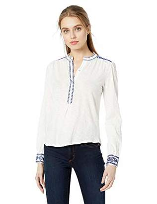 Lucky Brand Women's Embroidered Henley TOP