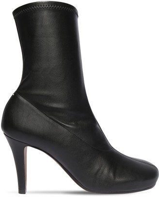 Maison Margiela 80mm Tabi Faux Leather Ankle Boots