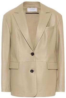 Common Leisure Power Suit leather blazer