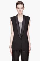 SMYTHE Black Shawl Collarl structured Tuxedo Vest