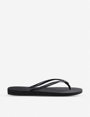 Havaianas Slim Crystal Glamour rubber flip-flops