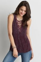 American Eagle Outfitters AE Soft & Sexy Ladder Front Tank
