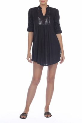 BOHO ME Crochet Lace Inset Cover-Up Tunic