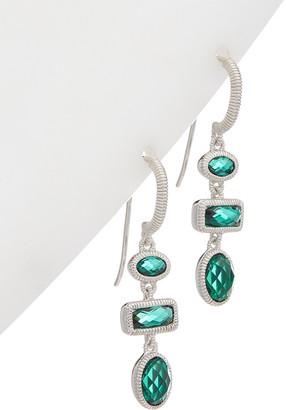 Judith Ripka Sanibel Silver 3.34 Ct. Tw. Synthetic Green Quartz Earrings