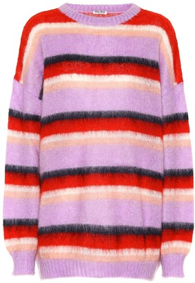 Miu Miu Striped mohair-blend sweater