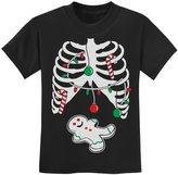 TeeStars - Gingerbread Skeleton Christmas Rib Cage Xray Cute Kids T-Shirt