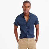 J.Crew Short-sleeve slub cotton shirt in diamond pattern