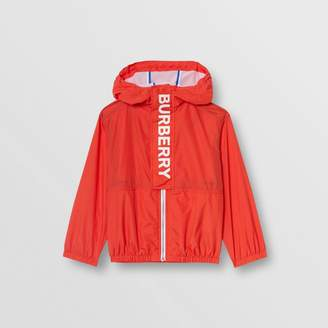 Burberry Childrens Logo Print Lightweight Hooded Jacket