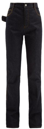 Bottega Veneta High-rise Flared Jeans - Dark Blue