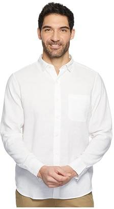 Tommy Bahama Long Sleeve Lanai Tides Camp Shirt (White) Men's Clothing
