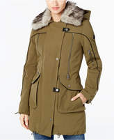 Lucky Brand Faux-Fur-Trim Piped Parka
